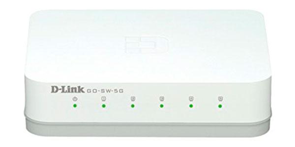 ¡Chollo! Conmutador D-LINK de 5 puertos Gigabit GO-SW-5G barato 9,99 euros. 57% Descuento