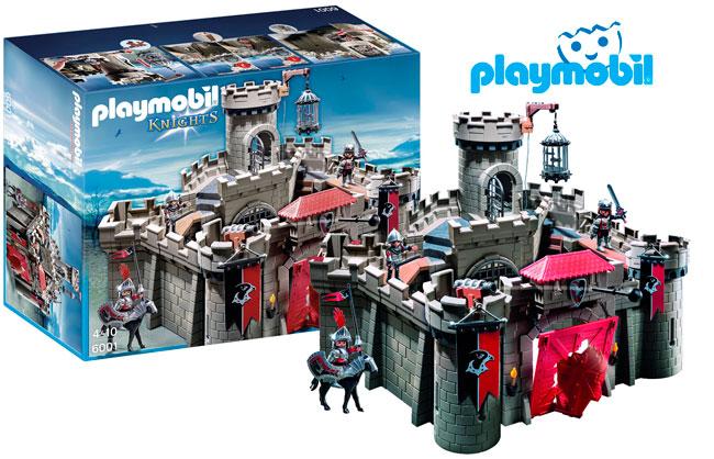 ¡Chollo! Castillo Playmobil 6001 Caballeros del Halcon barato 51 euros. 50% Descuento