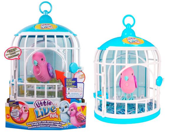 Chollo pajaro parlante que habla en jaula little live for Espejo que habla juguete