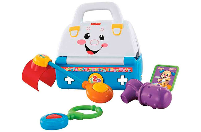 ¡Chollo! Maletin de Doctor con sonidos Fisher Price barato 11,95 euros. 62% Descuento