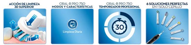 funciones oral-b pro 750
