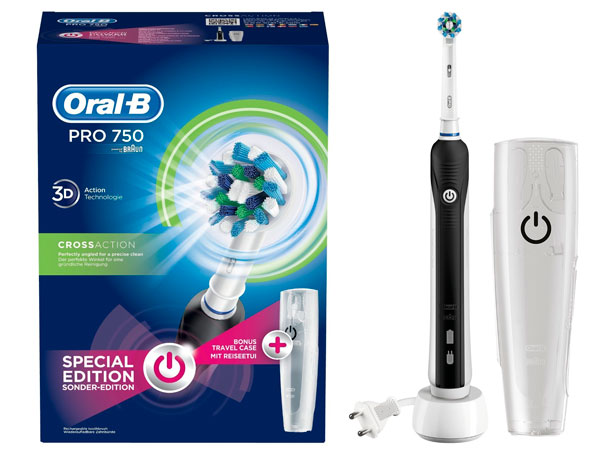 ¡Chollo! Cepillo electrico Oral-B PRO 750 CrossAction barato 29 euros. 25% Descuento