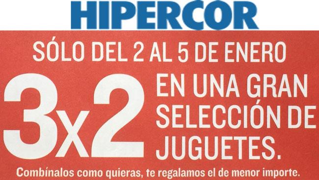 Promocion 3 x 2 en Juguetes en Hipercor. Dias 2 al 5 de enero 2016