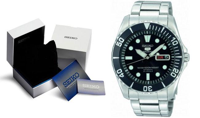 ¡Chollo! Reloj automático Seiko 5 Sports SNZF17K1 barato 151 euros. 49% Descuento
