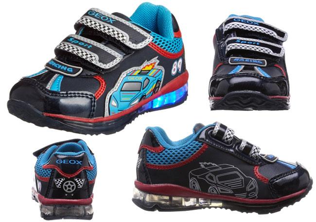 ¡Chollo! Zapatillas niños Geox Baby Todo Boy con luces baratas 24 euros. 50% Descuento