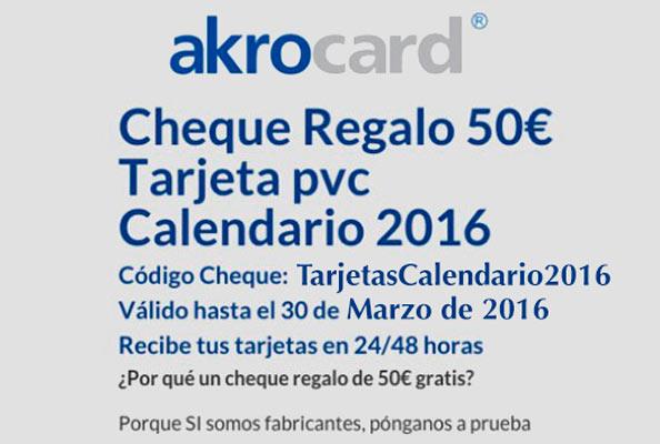 tarjetas calendarios akrocard gratis marzo 2016