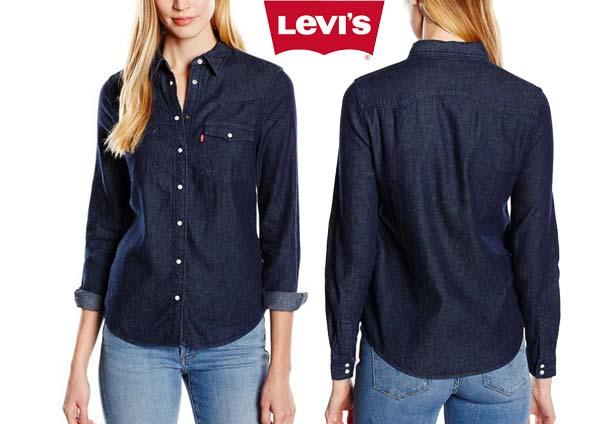 camisa levis modern western azul