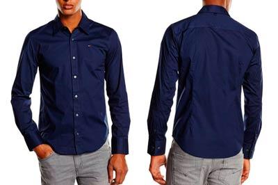 camisa-hombre-tommy-hilfiger-sabim-barata-rebajas-descuento-azul-marino-basica