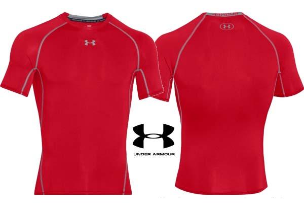 camiseta under armour roja barata