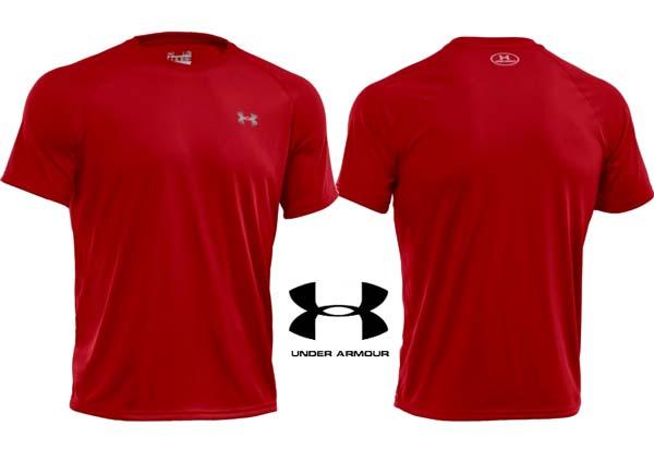 camiseta under armour top ua roja