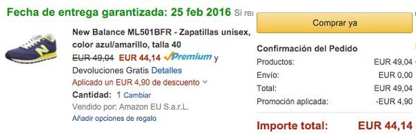 Chollo! Zapatillas New Balance ML501BFR baratas 44 euros. 48