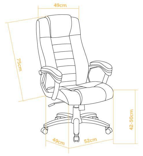 silla de oficina barata medidas
