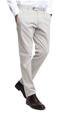 pantalon chino basico caramelo slim fit barato blanco