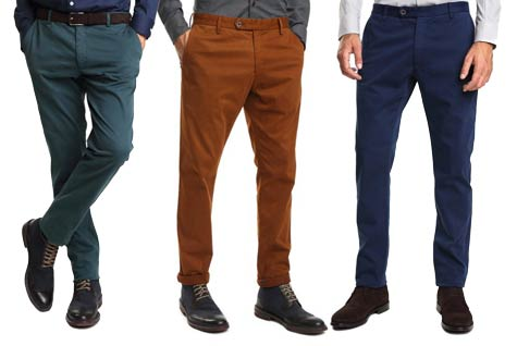 pantalon chino basico caramelo barato amazon slim fit