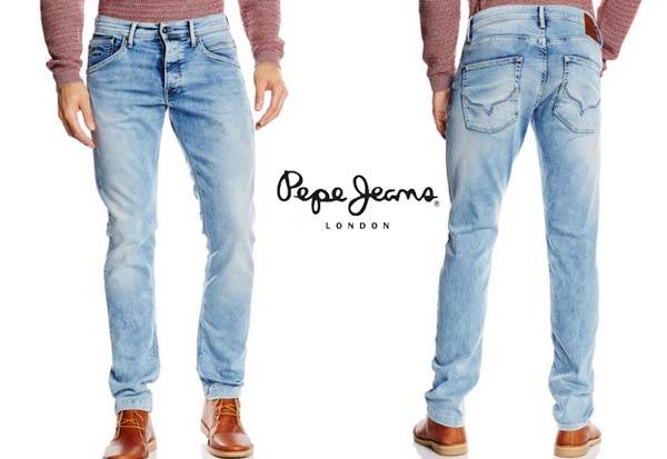 vaqueros pepe jeans track celeste