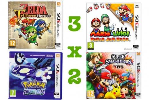 promocion 3x2 juegos nintendo 3ds baratos descuento videojuegos