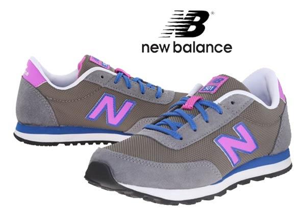 new balance gris niña