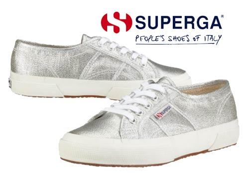zapatillas superga plateadas