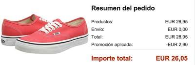 zapatillas vans u authentic rojas baratas