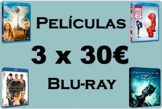3x30 euros peliculas bluray baratas descuento rebajas