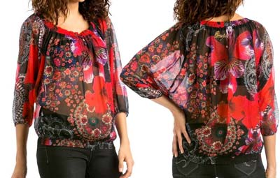 blusa desigual barata