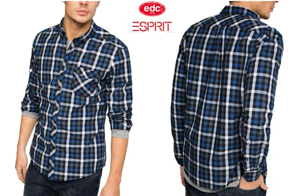 camisa edc by esprit kariert