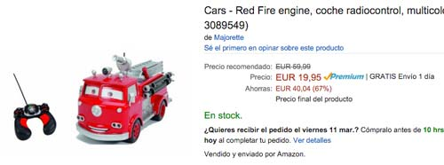 cars red fire barato