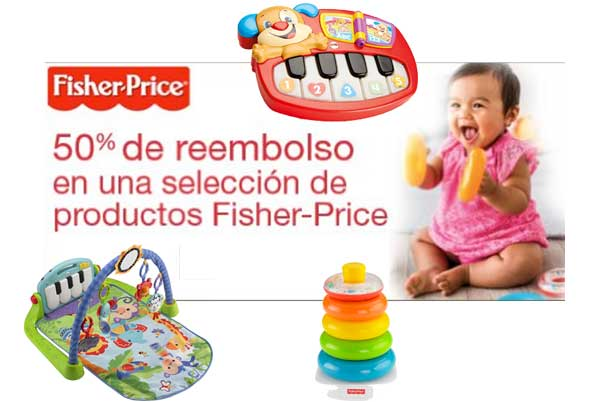 fisher price 50%