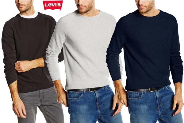 Jersey levis Classic Crew gris