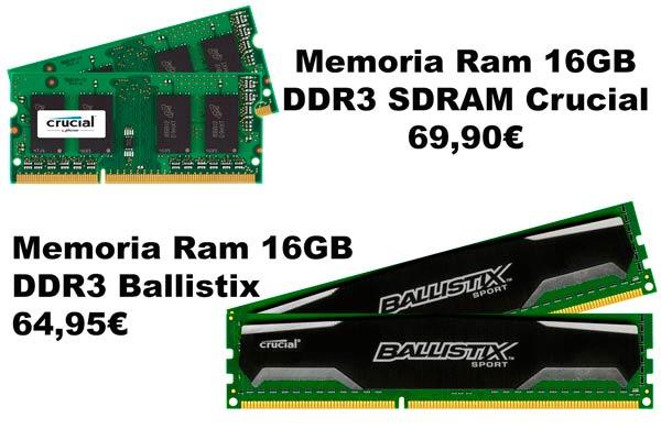 memoria ram barata ddr3 descuento informatica rebajas ampliar ordenador