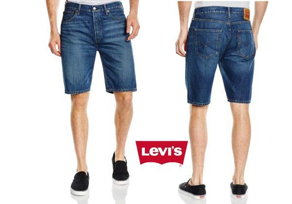 pantalones cortos levis 501 hemmed