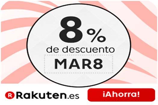 promocion rakuten 8% descuento directo barato rebajas en todo el marketplace