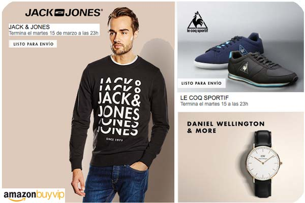 chollos buyvip promocion le coq sportif daniel wellington jack jones kawasaki