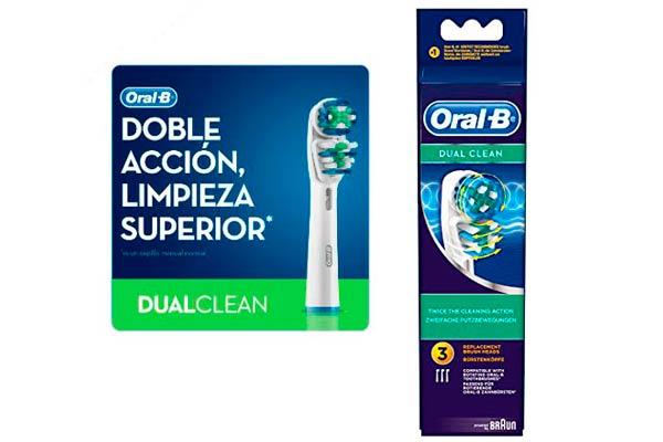 recambio cabezales oral-b dual clean baratos descuento