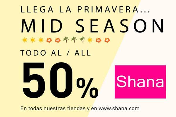 todo shana al 50% mitad de precio descuento rebajadas todo 50 temporada moda