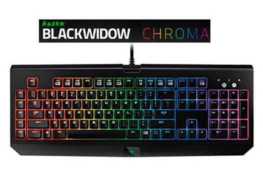 teclado gaming razer blackwidow chroma barato descuento oferta flash