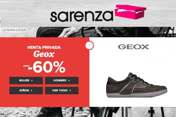 venta privada geox sarenza descuento rebajas descuento zapatos moda