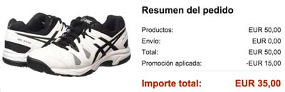 Chollo! Zapatillas Asics Gel Game 5 de tenis barata 35 euros.