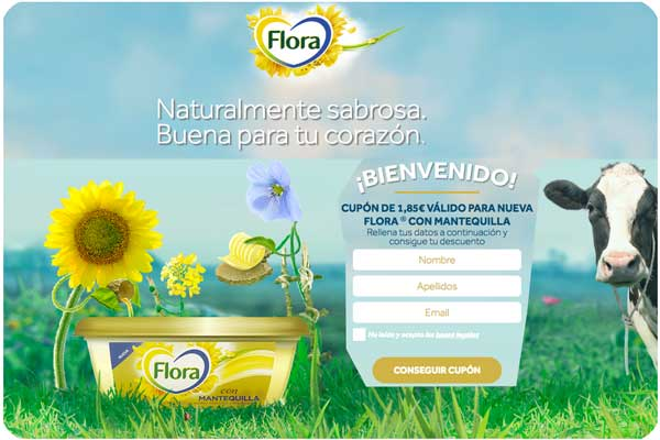 nueva flora con mantequilla gratis cupon descuento