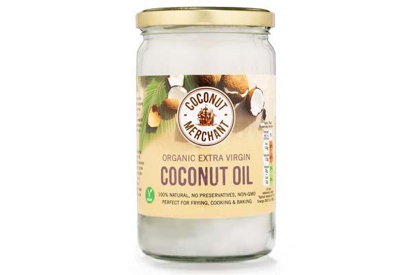 Virgen de aceite de dieta de coco