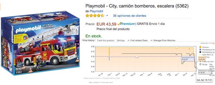 camion bomberos playmobil 5362