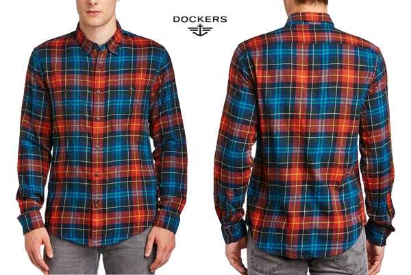 camisa dockers Alpha Khaki Wrinkle
