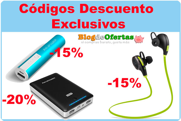 codigos descuento exclusivo blogdeofertas bateria externa auriculares taotronics ravpower baratos