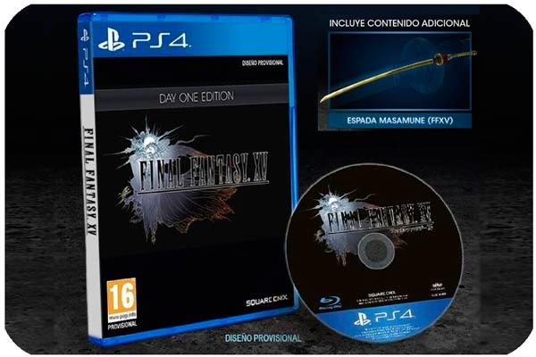 reserva final fantasy xv day one edition barato descuento rebajas xbox ps4 videojuego