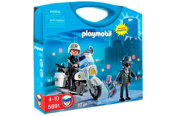 maletin policia playmobil 626650 barato descuento rebajas juguetes