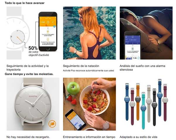 monitor actividad withings activite pop barato