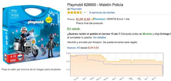 precio maletin policia playmobil 626650 barato