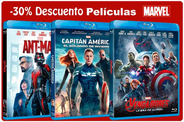 promocion peliculas marvel 30 descuento rebajas cine series bluray dvd