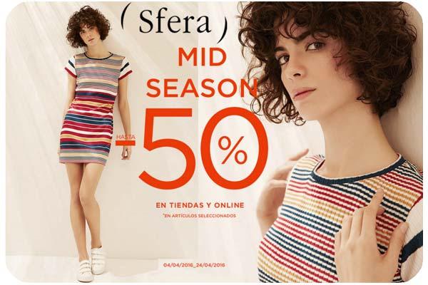 rebajas mid season sale en sfera moda barata descuento ropa
