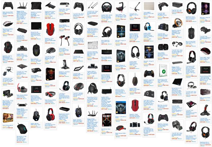 semana gaming en amazon productos baratos